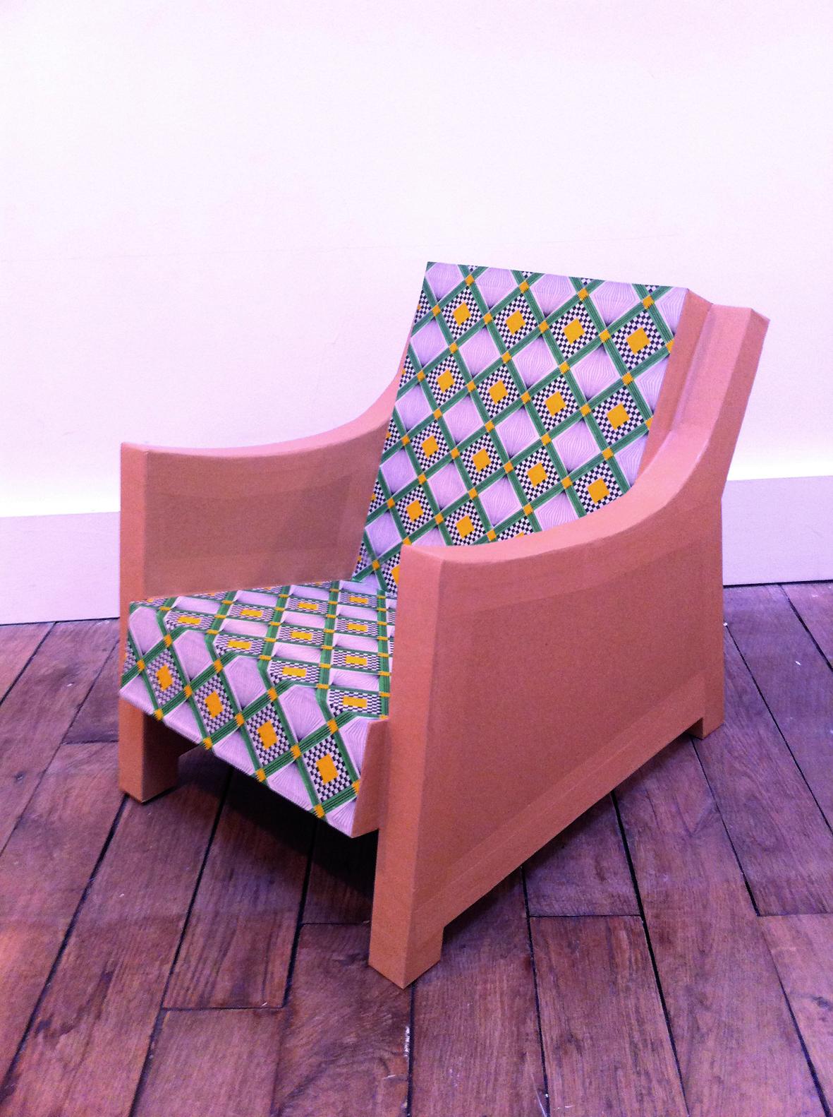 Juliadesign meuble en carton fauteuil for Meuble fauteuil