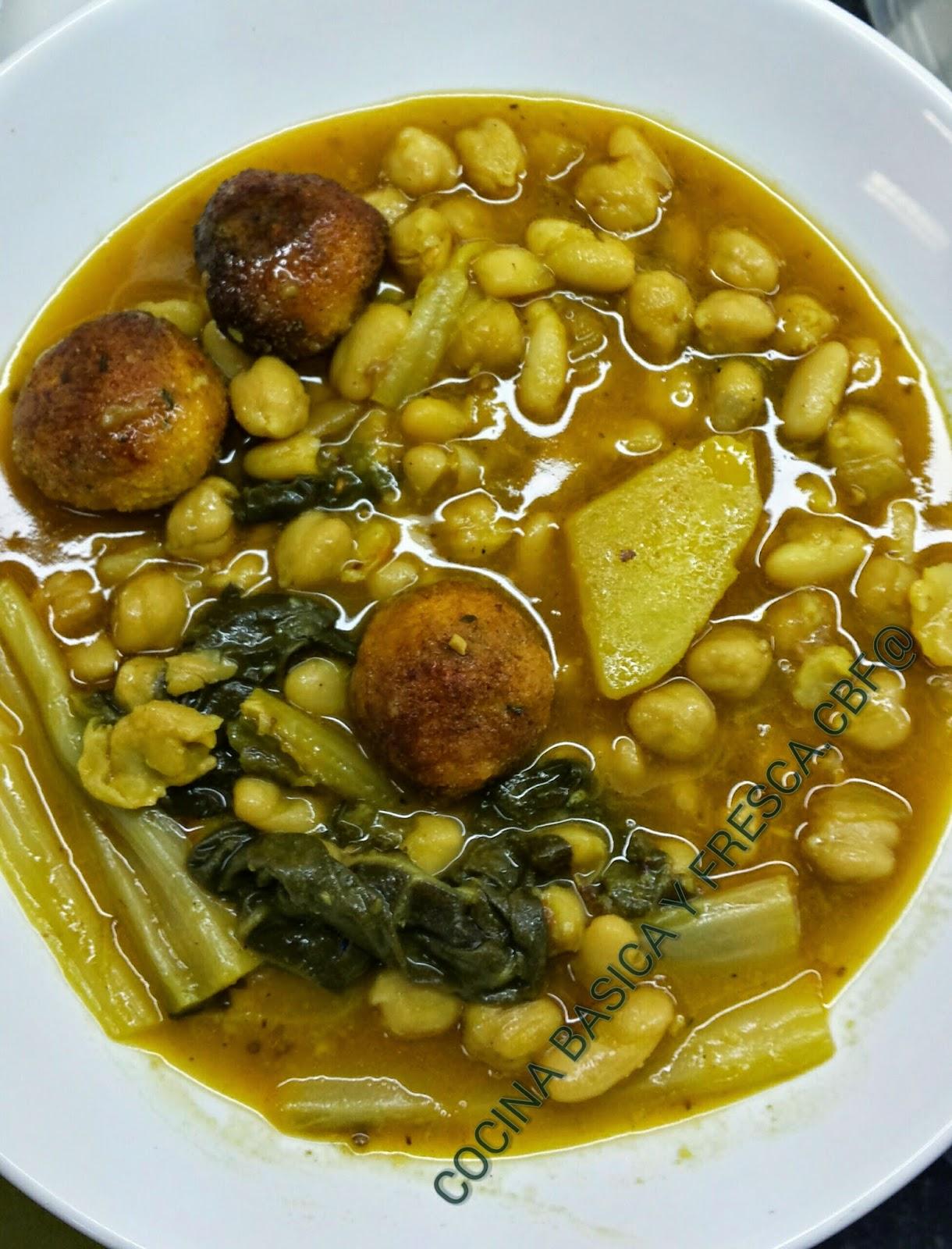 Cocina basica y fresca potage de acelgas con albondigas for Como cocinar acelgas frescas
