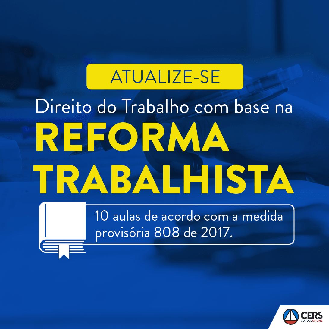 CURSO- Reforma Trabalhista