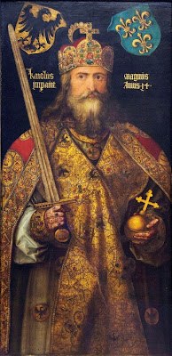 Carlo Magno retrato pintado por el gran artista alemán Alberto Durero.