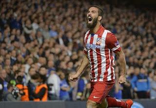 Arda Turan gol sevinci chelsea atletico madrid 1-3