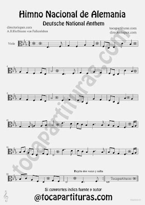 Tubescore Germany National Anthem Sheet Music for Viola