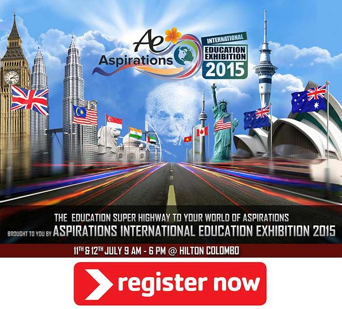 Aspirations International Education Exhibition 2015 ( AIEE 2015) - REGISTER NOW.