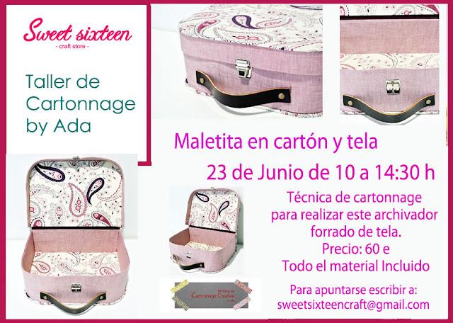 Taller Cartonnage Maleta en Sweet sixteen by Ada Cartonnage Creativo