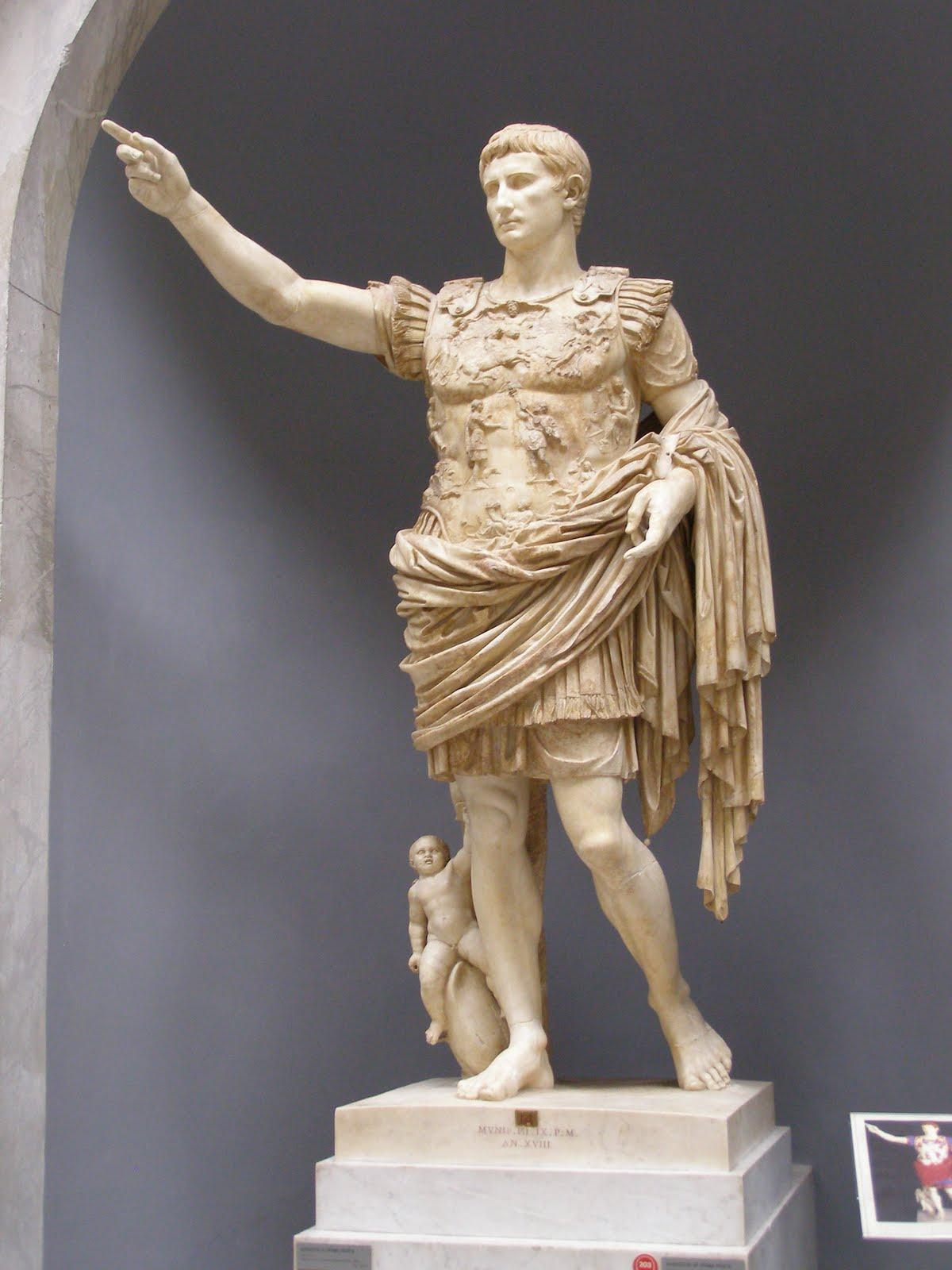 Historia del arte an lisis de una escultura romana for Augusto roma
