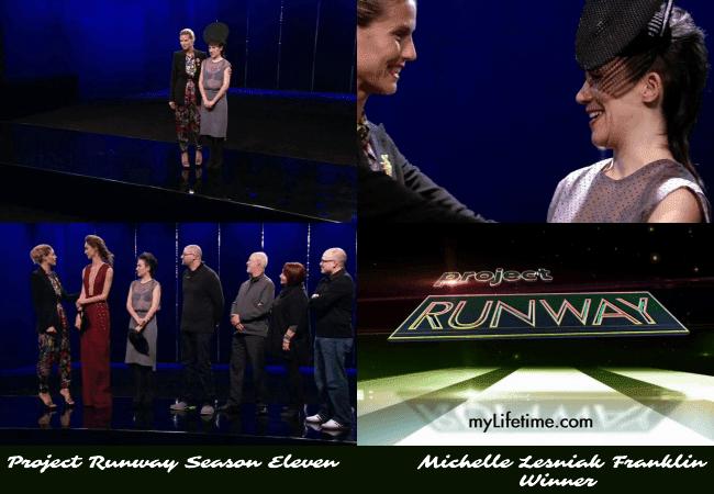 Michelle Lesniak Franklin is declared the winner of Project Runway Season 11 Heidi Klum jiveinthe415.com