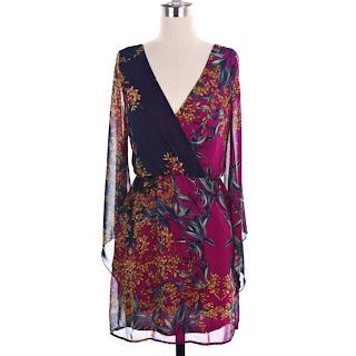 Magenta Floral Kimono Dress