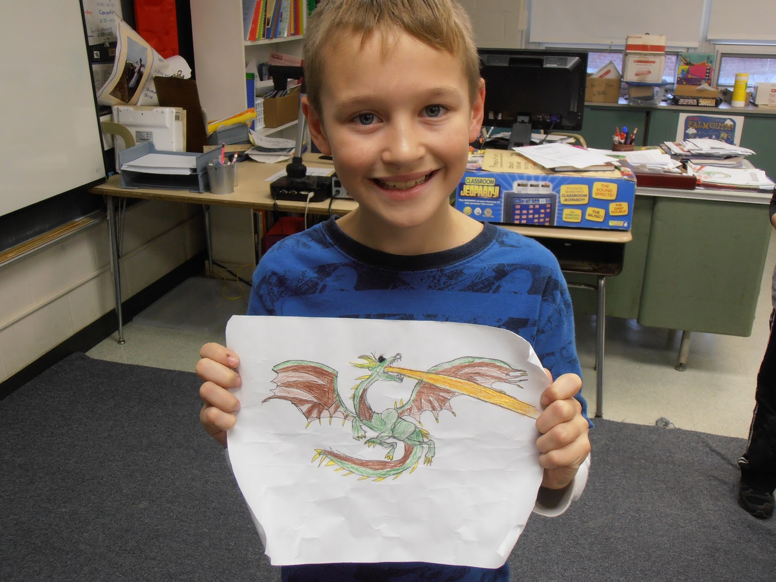 This Week We Will Be Reading About Komodo Dragons Today We Learned How To  Follow Directions In Order To Draw A Fantastic Dragon