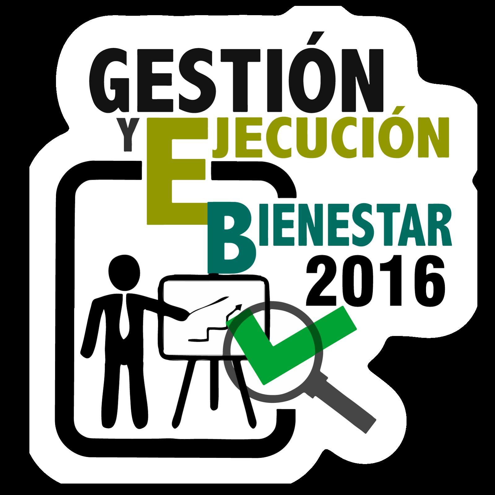 Gestión y Ejecución Bienestar 2016