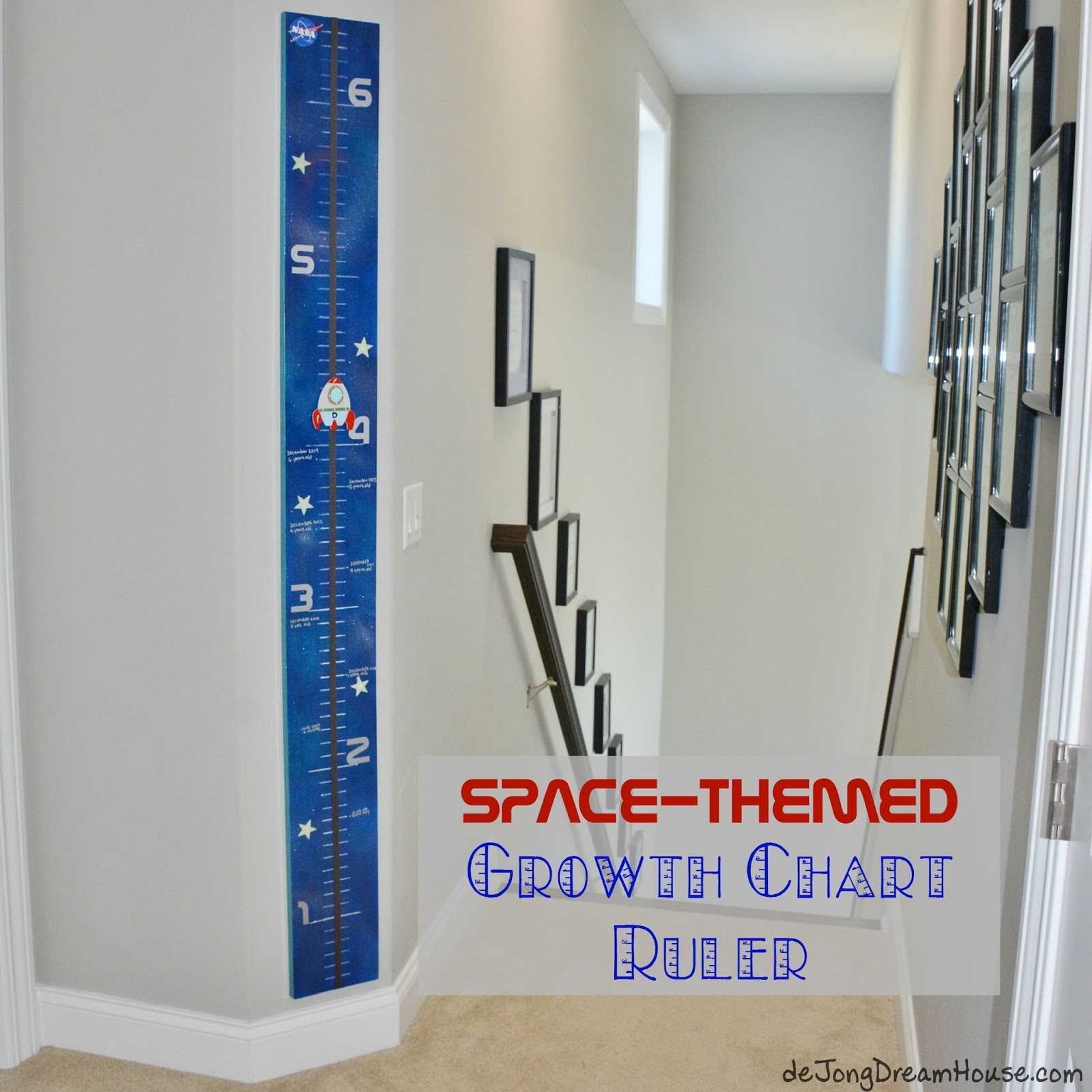 spacethemed growth chart ruler