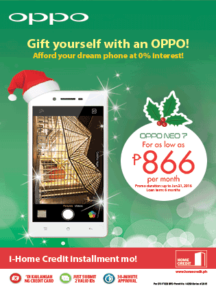 OPPO and Home Credit Promo