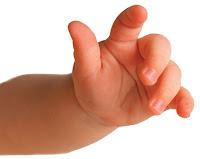 em mão de bebê não se pega
