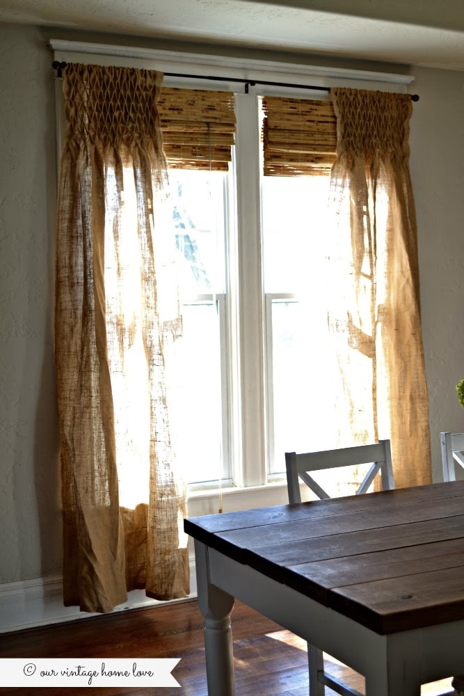 curtain ideas home pin curtains smocked burlap diy