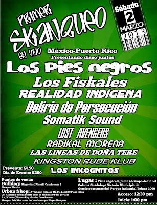 Los Pies Negros en Toluca 2013