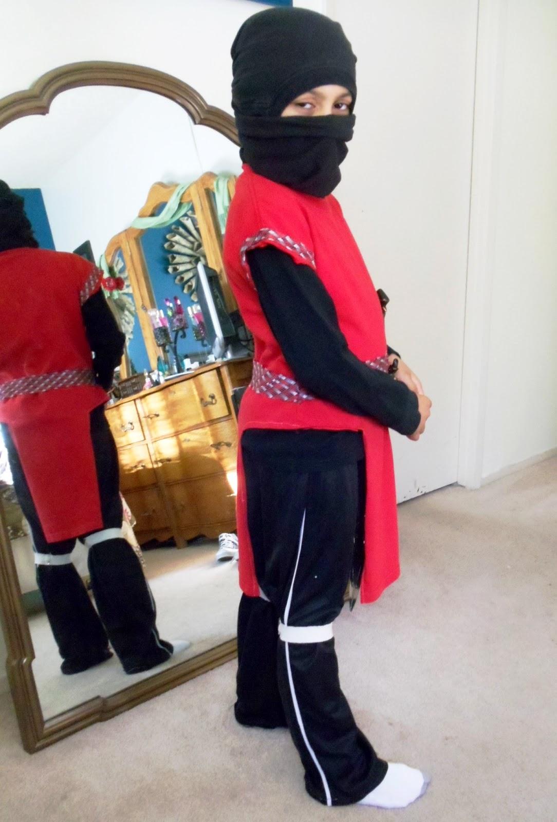 diy ninja costume