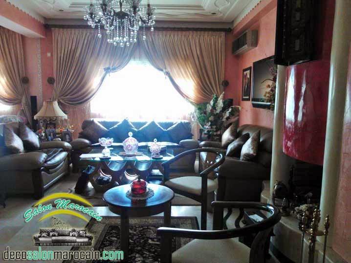 Salon marocain chameau cuire