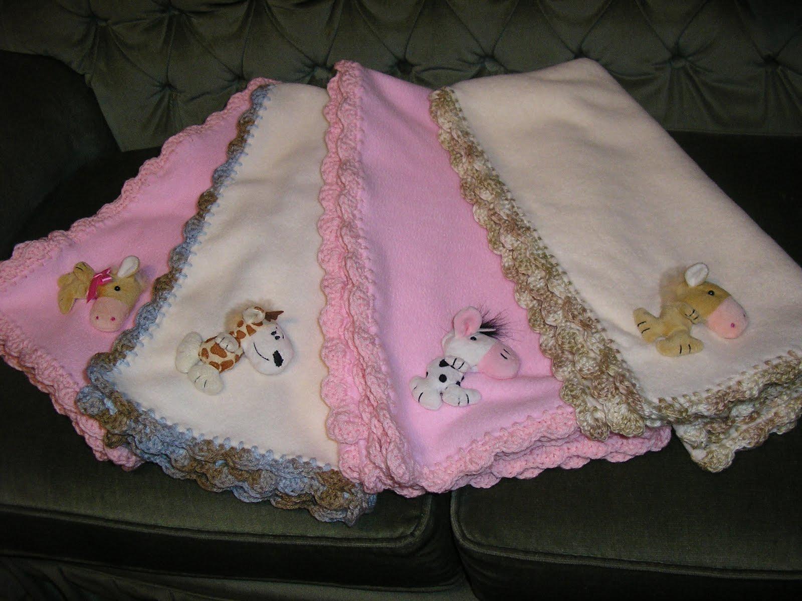 Brotes de Ternura: Mantas recibidoras para bebé - Polar y crochet