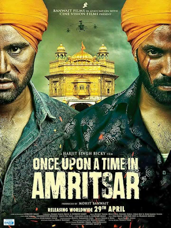Poster Of Pollywood Movie Once Upon a Time in Amritsar 2018 300MB HDRip 480P Full Punjabi Movie