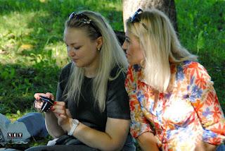 Русские в Италии на шашлыке Русские в Турине на пикнике встречи