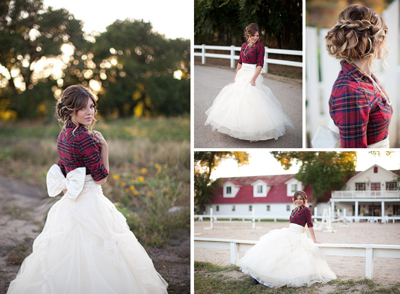 Dress Ideas For A Fall Outdoor Wedding Here are two fun fall bridal