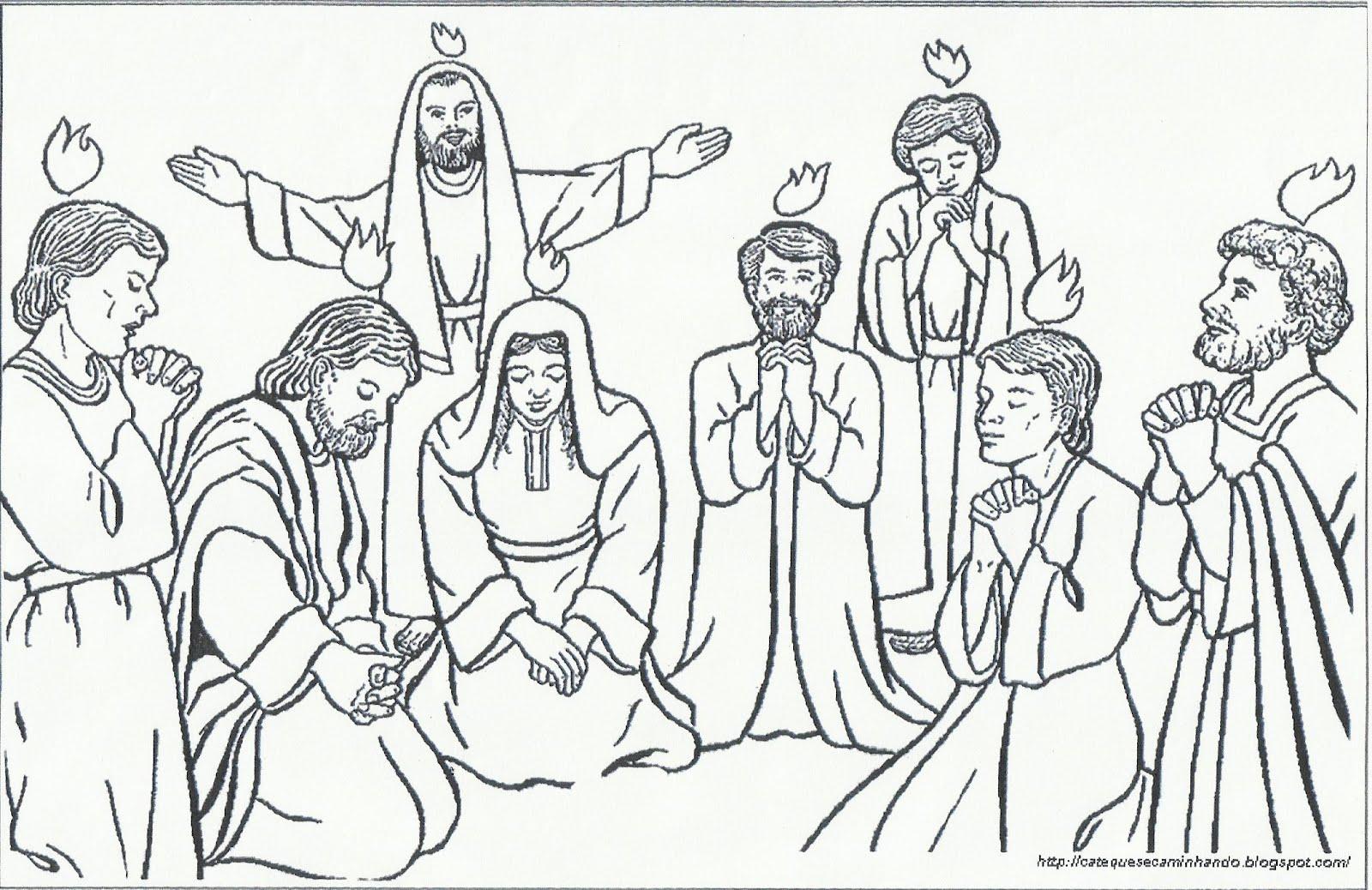 catequese na net imagem para colorir 3 pentecostes