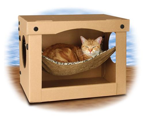 Как сделать домик для котят и кошки