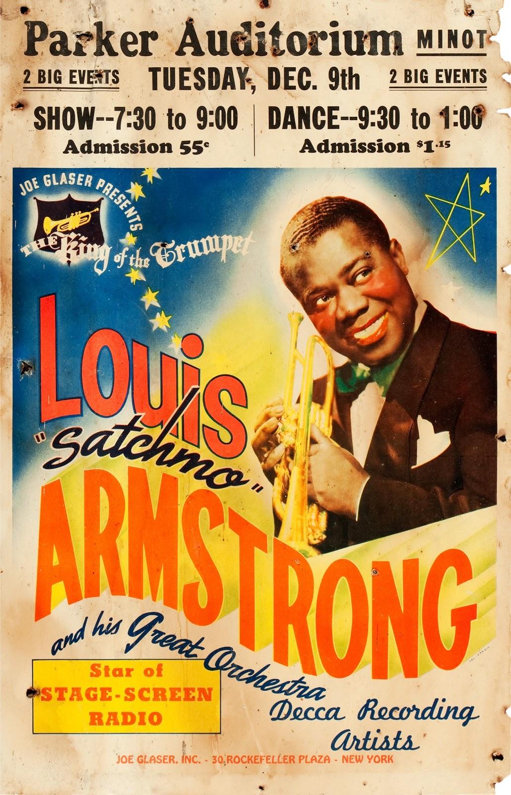 Pop Culture Safari Vintage Louis Armstrong Concert Poster