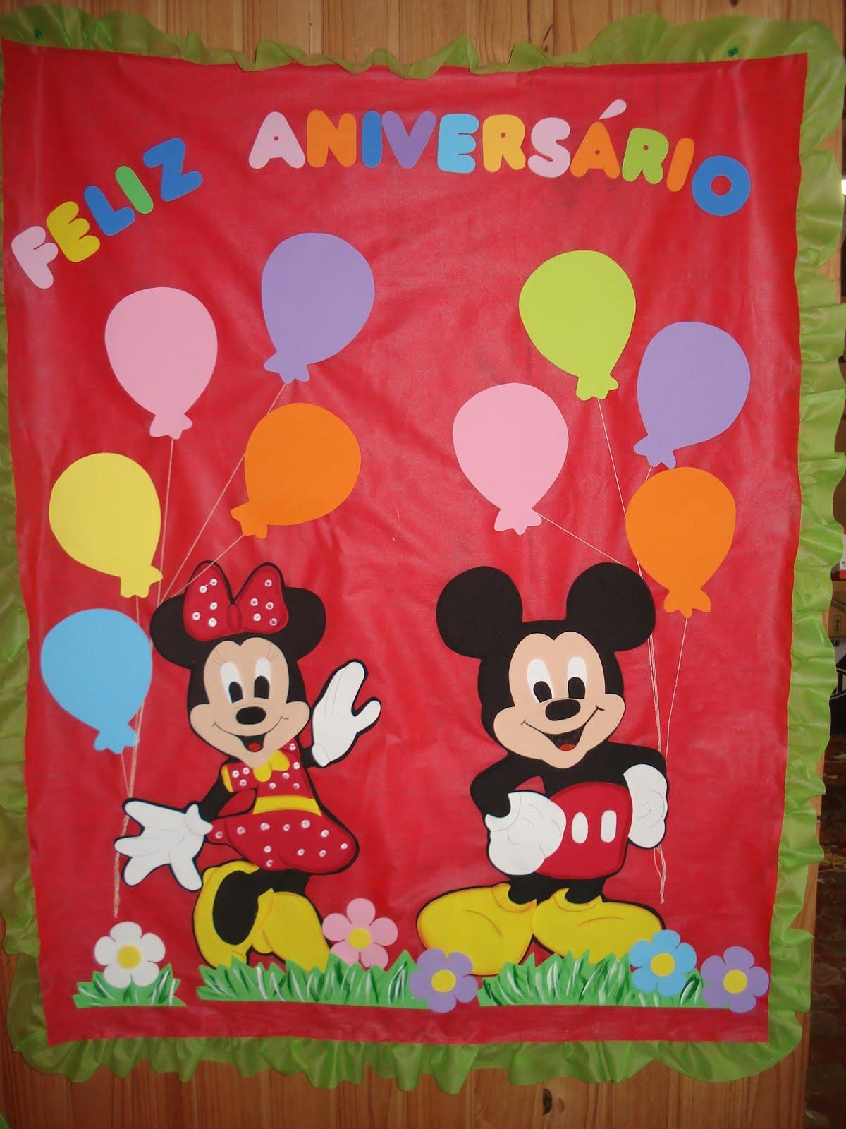 Painel De Anivers  Rio Do Mickey E Minie