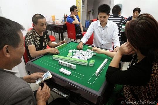 Mahjong gambling photograph