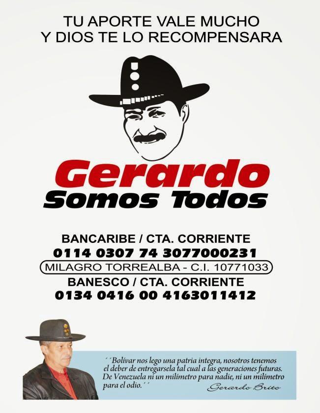 Servicio Público: Gerardo Somos Todos y necesita de tu ayuda este amigo folklorista y ver Afiche.