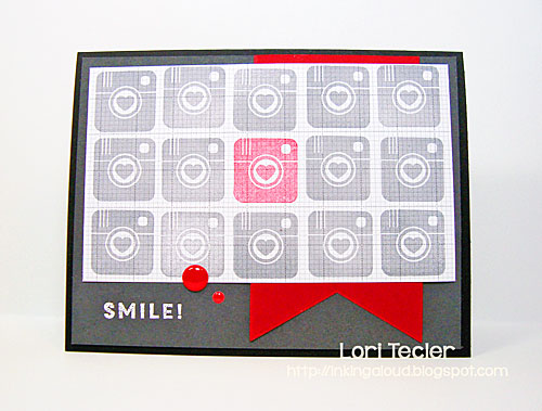 Smile card-designed by Lori Tecler/Inking Aloud-stamps from My Favorite Things