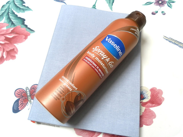 A picture of Vaseline Spray & Go Body Moisturiser Cocoa Radiant