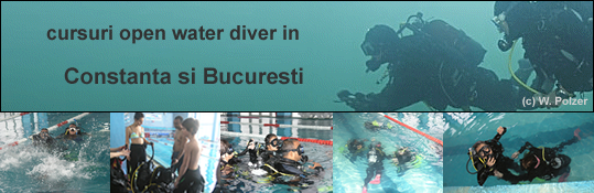 PADI Scufundari scuba diving Open water diver scafandru curs course Aquarius dive center Constanta Marea Neagra Romania Bucuresti
