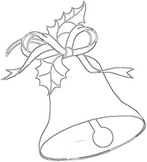 Riscos para pintura de sinos de natal