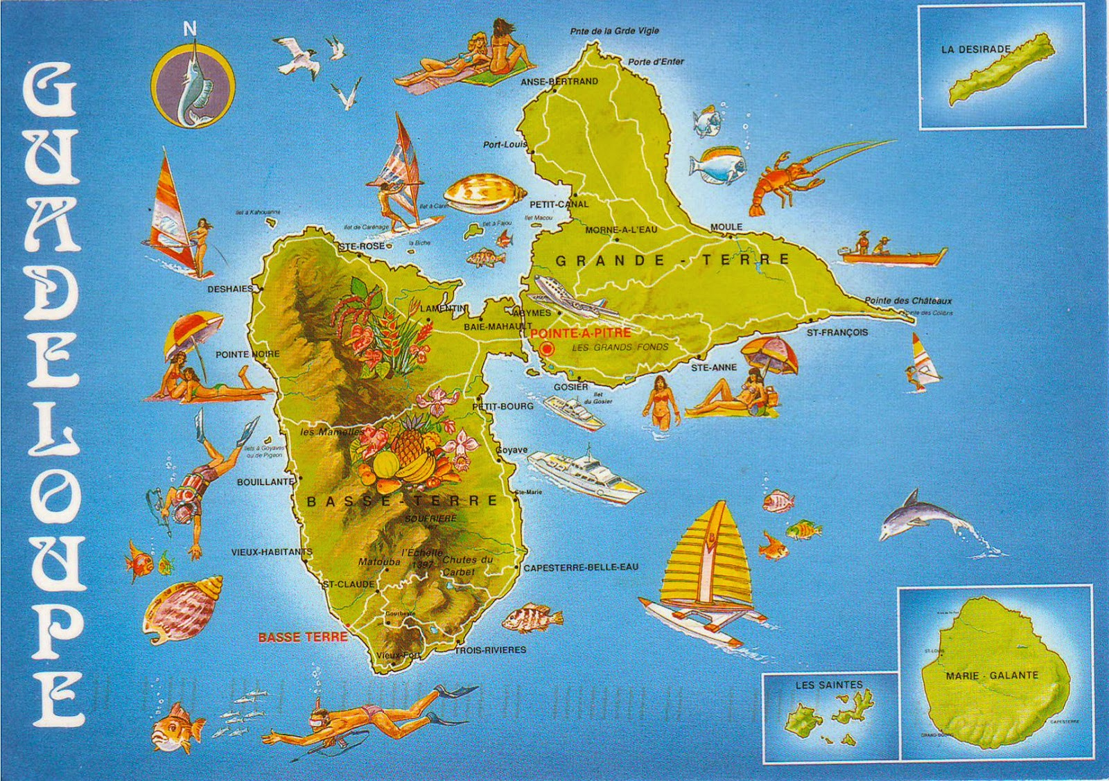 map postcard from french guadeloupe. one postcard one world map postcard from french guadeloupe