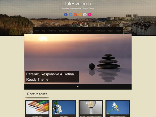 Sixteen Free WordPress theme 2014