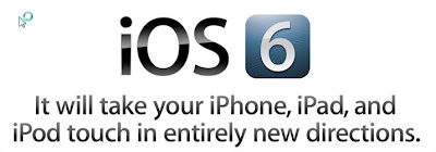 apple iOS 6 for apple iPhone, iPad and Ipod touch