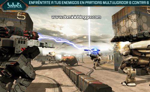 Unete a la batalla final en el juego Walking War Robots