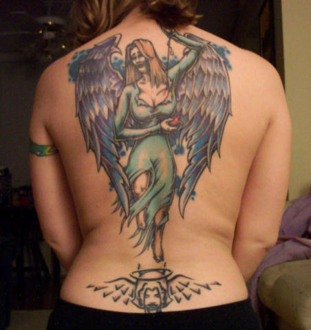 Tattoos  Women on Angel Tattoos For Women