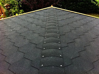 black bitumen roof shingles