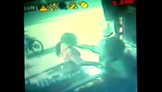 A screenshot from the CCTV video.