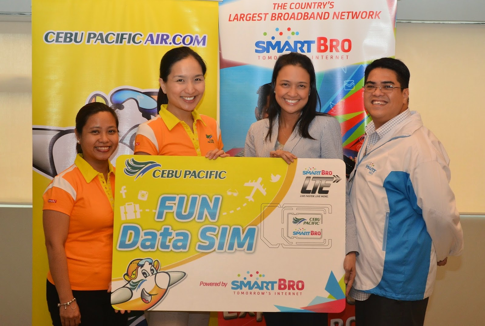 Cebu Pacific Fun Data SIM powered by Smart Bro