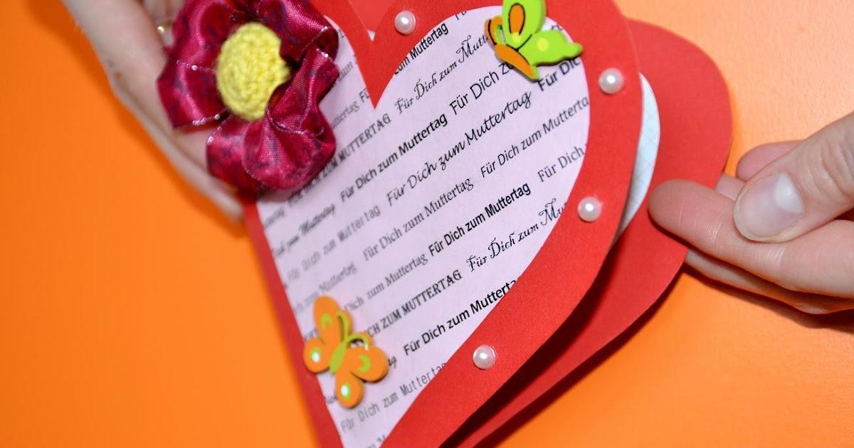 Muttertagskarte basteln for Basteln pinterest