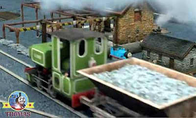 Sodor railway manager Fat Controller number one Thomas the tank engine Blue Mountain Quarry mine