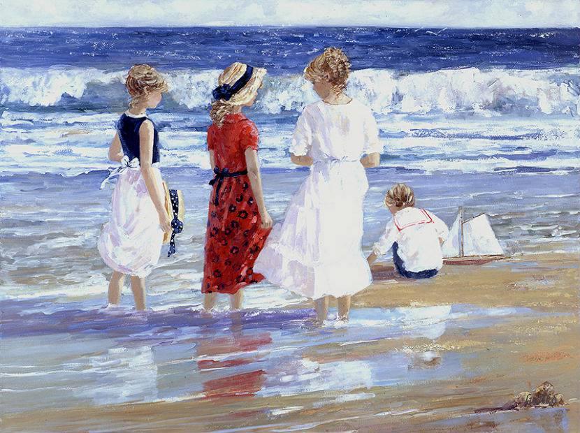 Assez Il mondo di Mary Antony: I bambini sulla spiaggia di Sally Swatland FO66