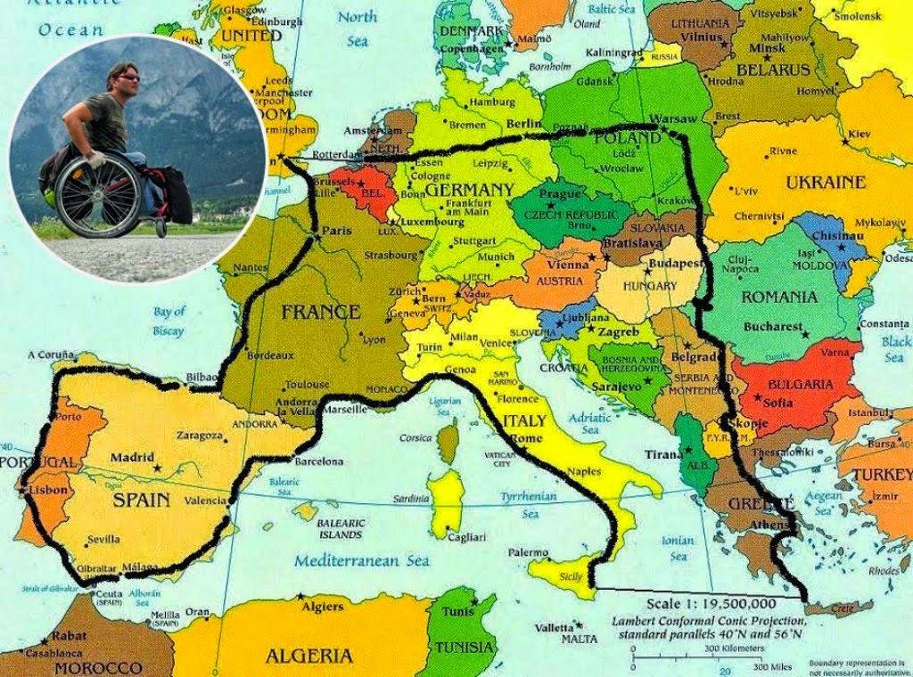 Vasile Stoica începe în weekend călătoria celor 12000 de kilometri în scaunul cu rotile prin Europa. Iată programul evenimentului