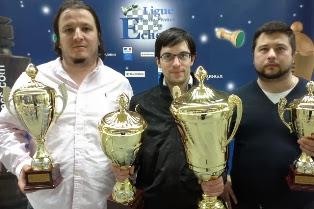 Le doublé pour Maxime Vachier-Lagrave, champion de France de Blitz et de parties rapides 2014 © Ligue IDF échecs