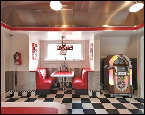 50 60s diner theme american diner layout reference for 50 s theme decoration ideas