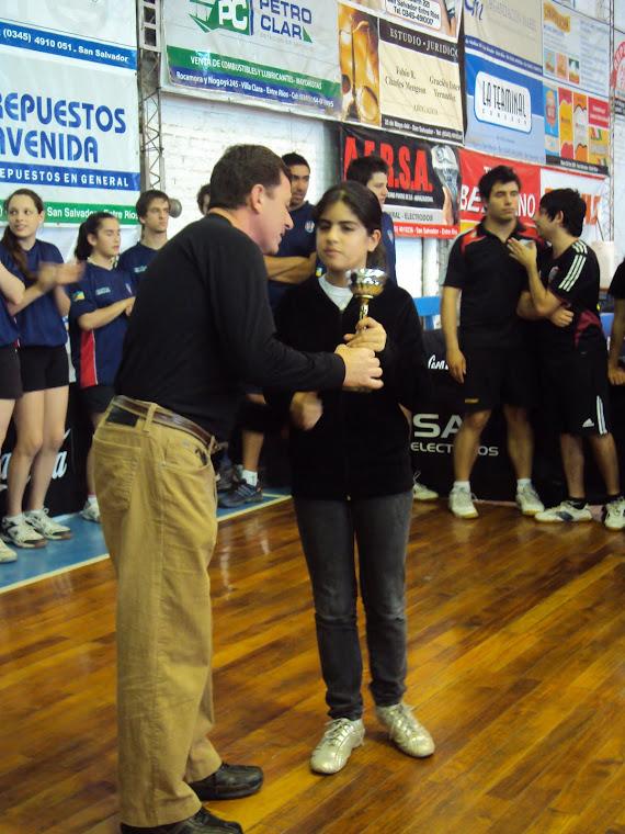Camila Viana Premiacion de Paso de los libres
