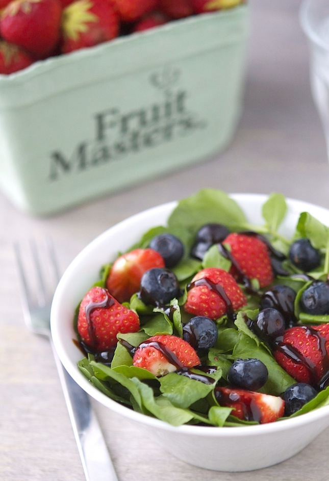 Savory Watercress Berry Salad